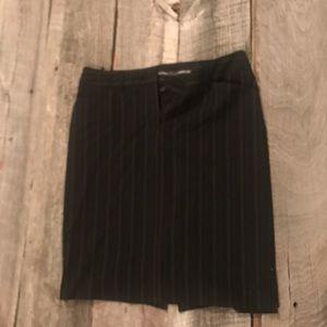 Black with tan stripe skirt